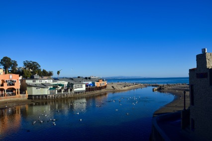 Capitola wharf river meets the ocean