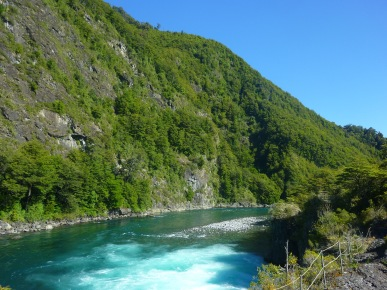 Petrohue river in the Los Lagos Region of Chile