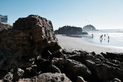 Rocky outcropping on the beach in San Francisco California