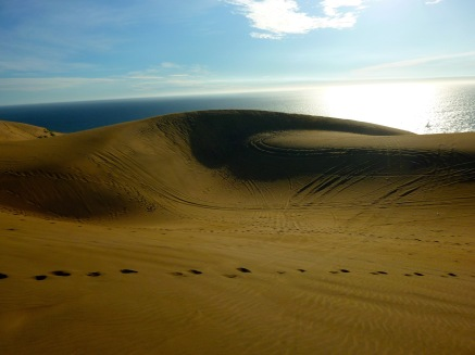Sand dunes and ocean views in the beach town of Con Con Chile