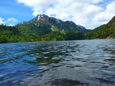Cold mountain lake in Huerquehue National Park in Chile