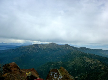 View from the top of La Campana in Chile after hiking to the top