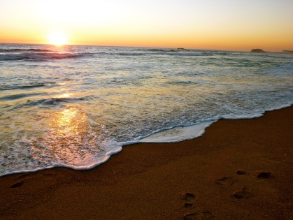 Sunsets over the ocean in Viña del Mar Chile