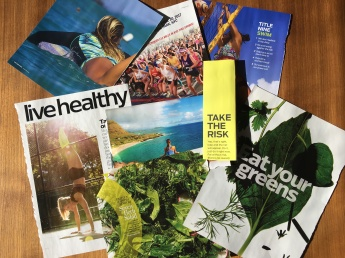 Magazine content for creating a active lifestyle vision board