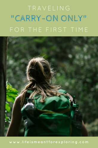 Pin to Pinterest for first time thoughts on carry on travel