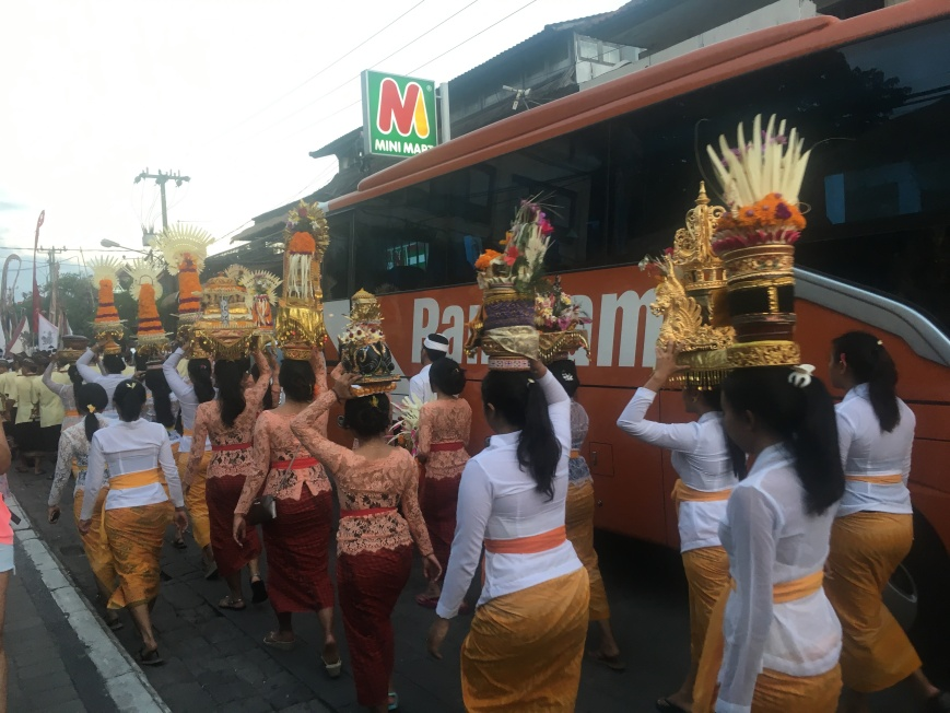 Royal Procession on the streets of Ubud