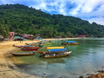 coral beach on Pulau Perhentian Keciln