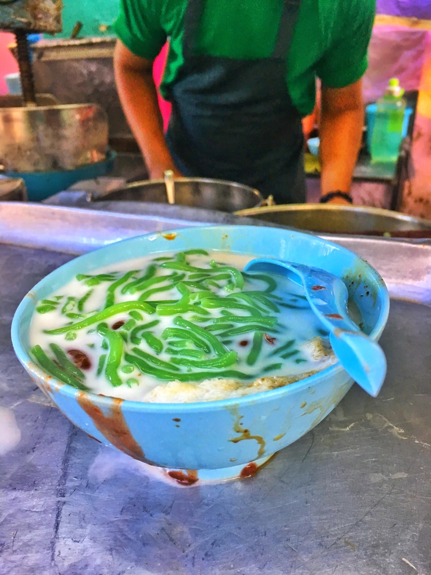 Bowl of Chendul from a street stall in George Town Malaysia