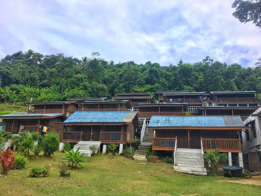 Mohsin chalet on perhentian kecil set up on the hillside with great views