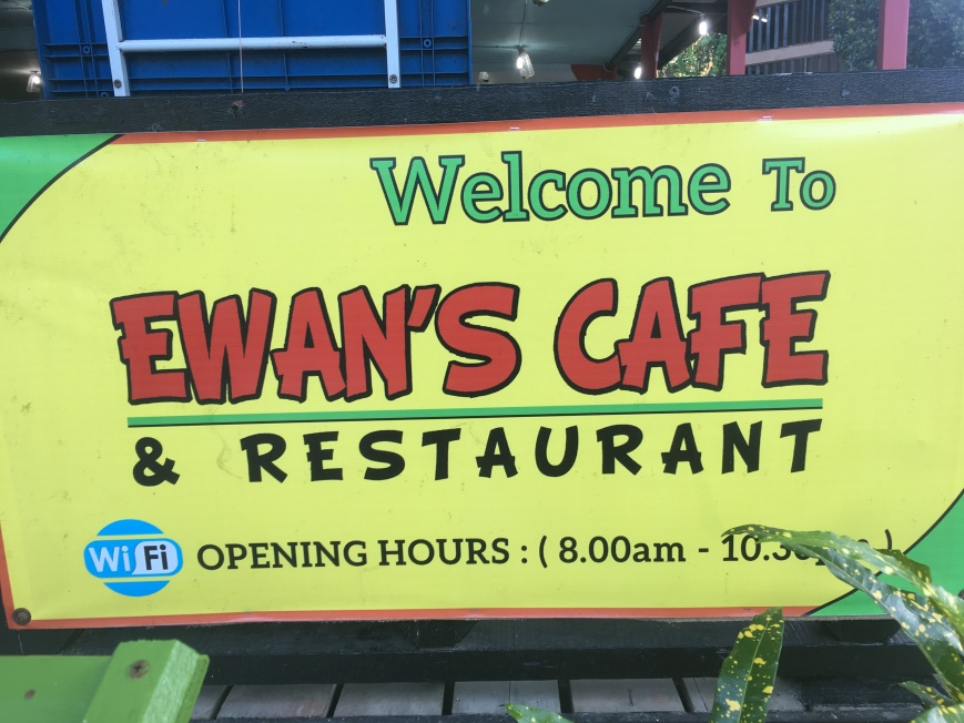 Ewan's Cafe located halfway between Coral and Long beach on perhentian kecil