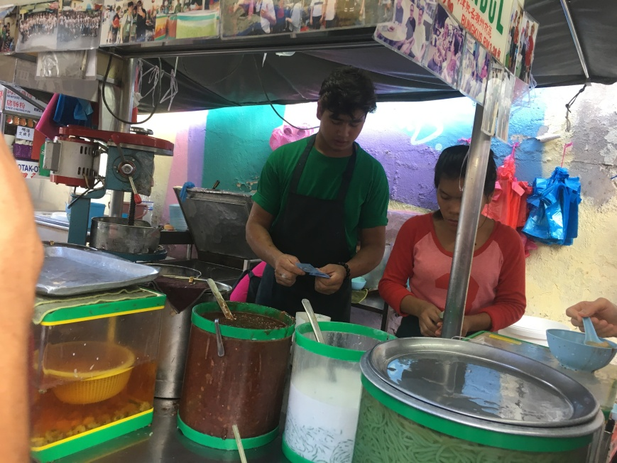 Chendul Stall where we tried chendul for the first time in George Town