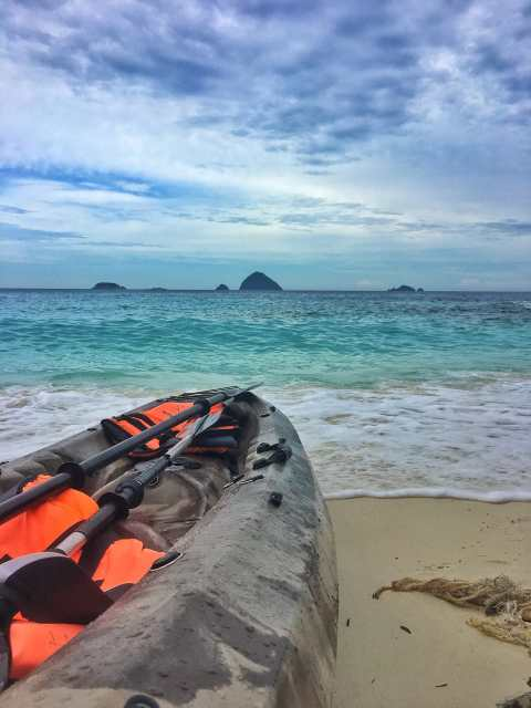 Beautiful views on our kayak adventure as we kayaked around the island of Perhentian Kecil