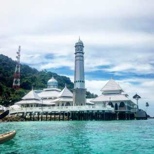 The mosque at the fisherman's village on Perhentian Kecil