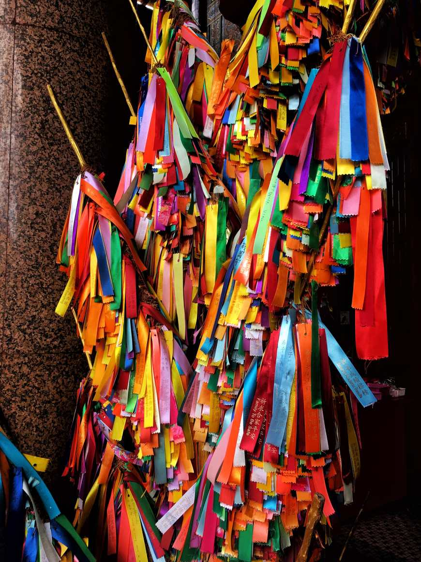 Wishing ribbons at Kek Lok Si In Penang Malaysia - Air Itam