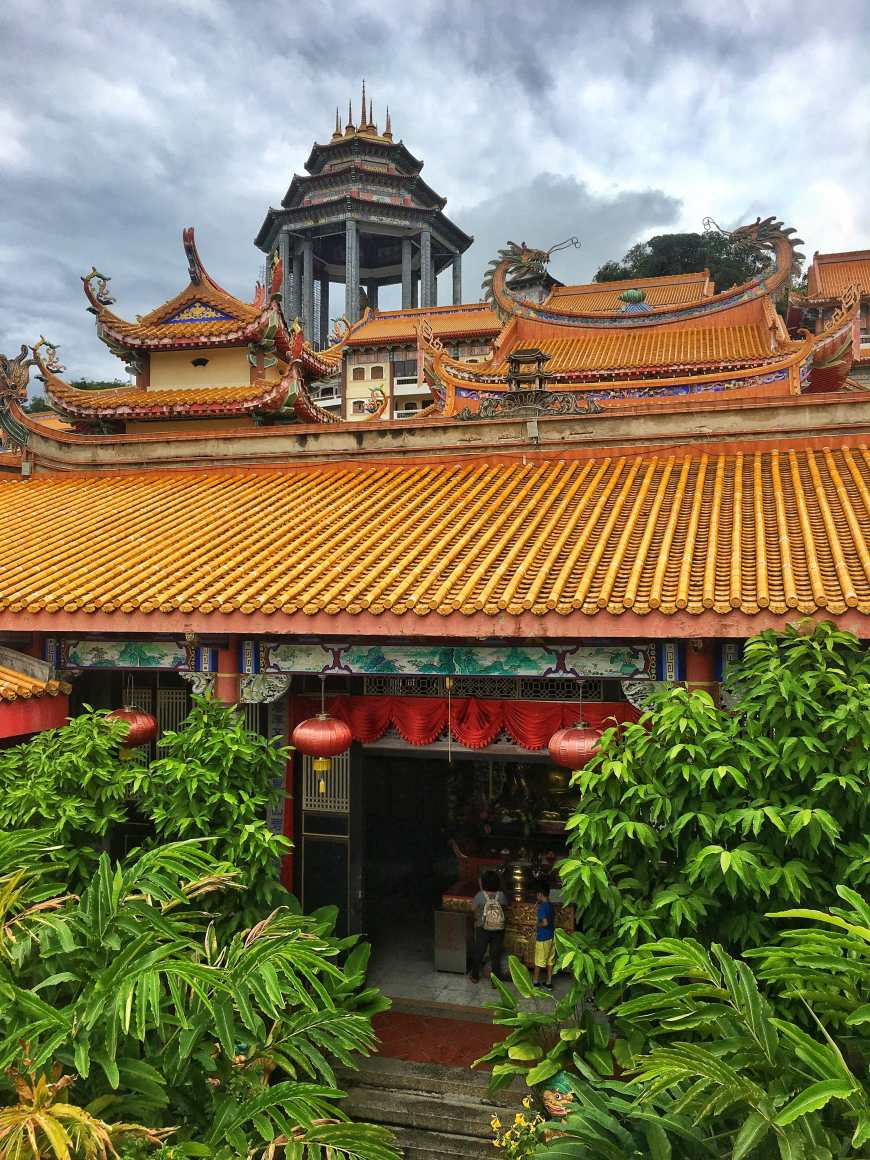 Kek Lok Si Temple, the largest buddhist temple in Malaysia, above the hills in Penang