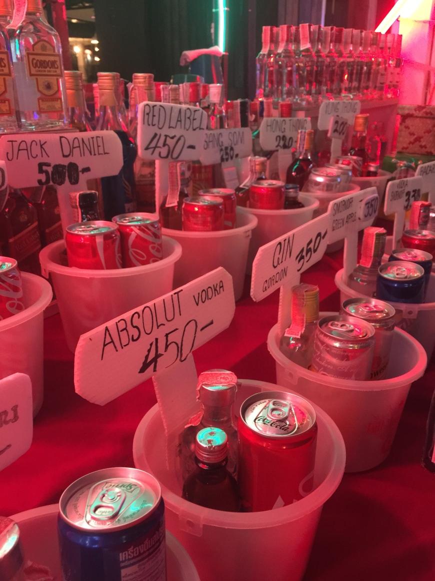 Buckets of booze on Koh Phi Phi