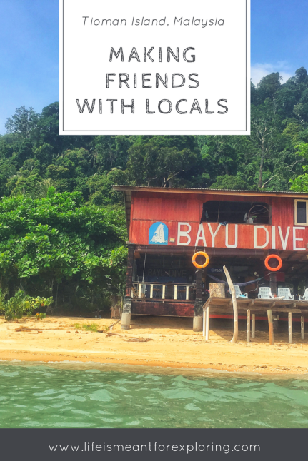 Making Friends With Locals At Bayu Dive