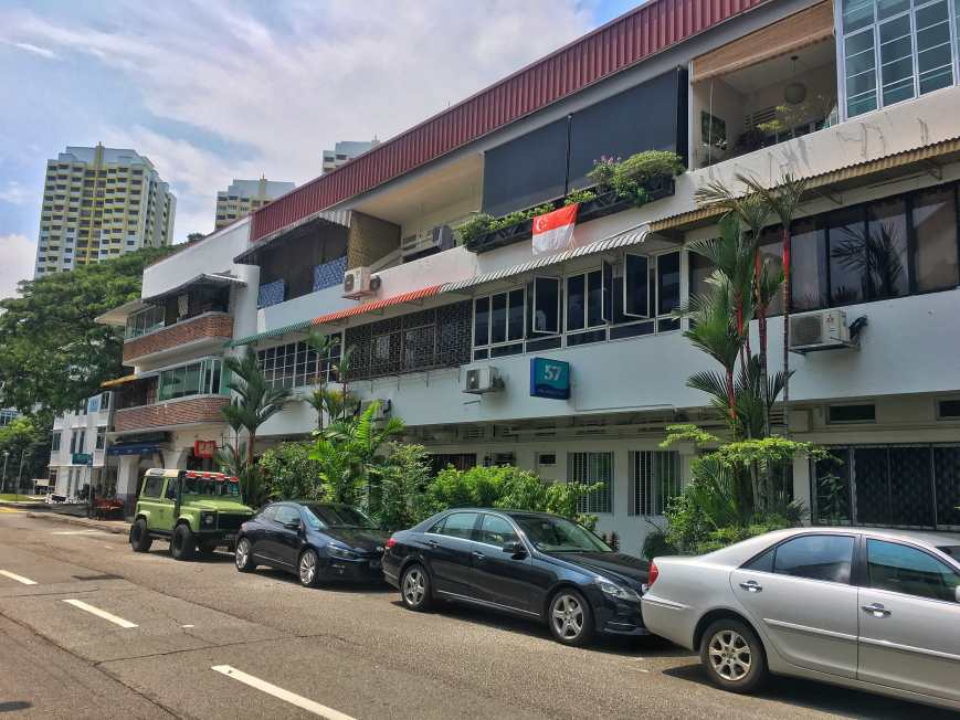 One of the streets of Tiong Bahru, a former section 8 housing district in Singapore