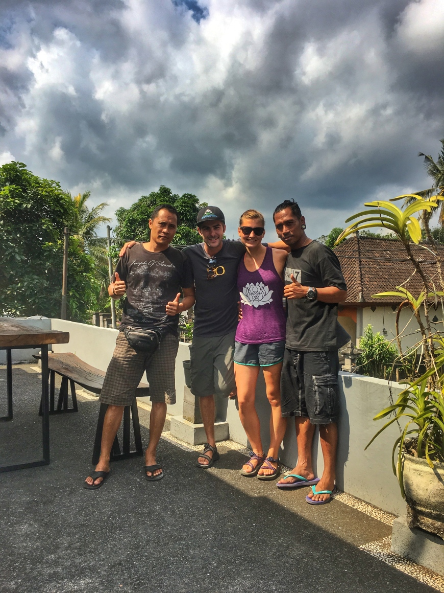 Saying Goodbye To Our New Balinese Friends Before Leaving Bali