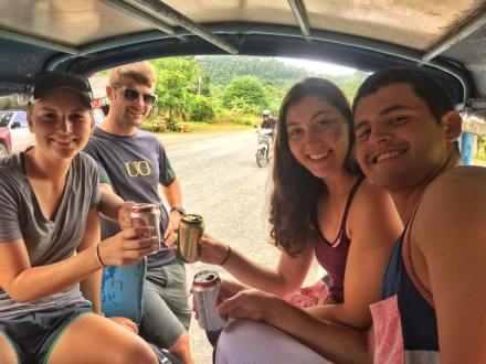 Bundling Together For Cheaper Tuk-Tuk Rides in Southern Thailand