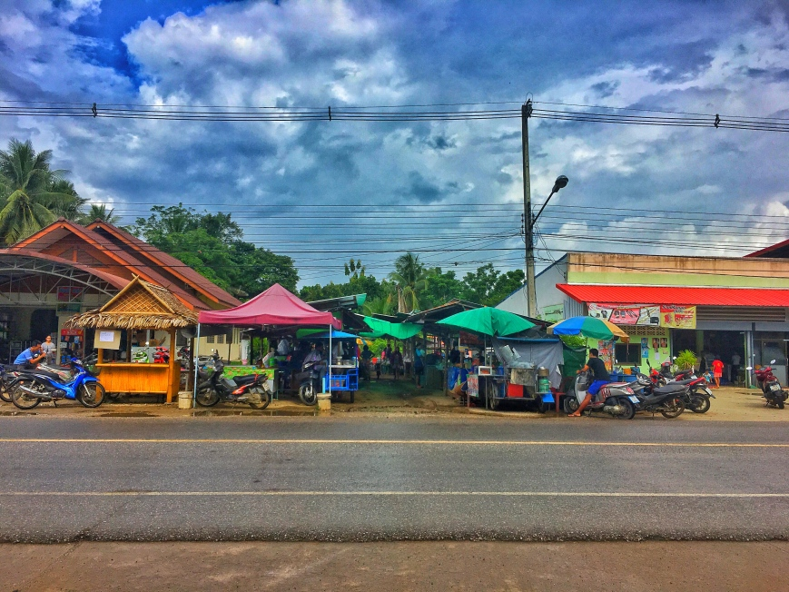 Street-side eats in a rural area outside of khao Sok National Park where we stopped on our 50k motorbike ride