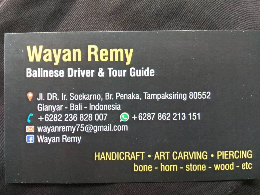 Remy's Business Card