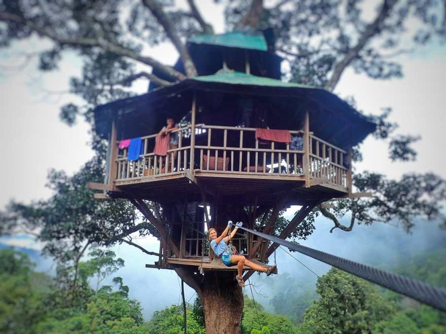 Our tree house home for the night with the Gibbon Experience in Huay Xai, Laos
