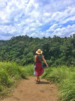 taking in the beautiful views at Campuhan Ridge Walk in Bali