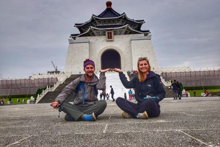 Alli and Tj at Chiang Kai Shek Memorial