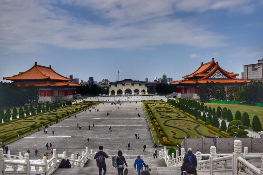 The view from the steps of the Chiang Kai Shek Memorial