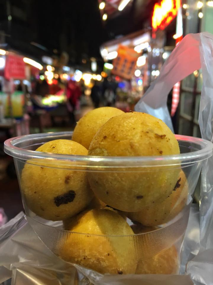 Sweet Potato Balls at Taipei Night Market