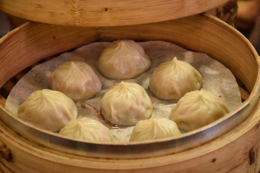 Xiao Long Tang Bao dumplins in Taiwan