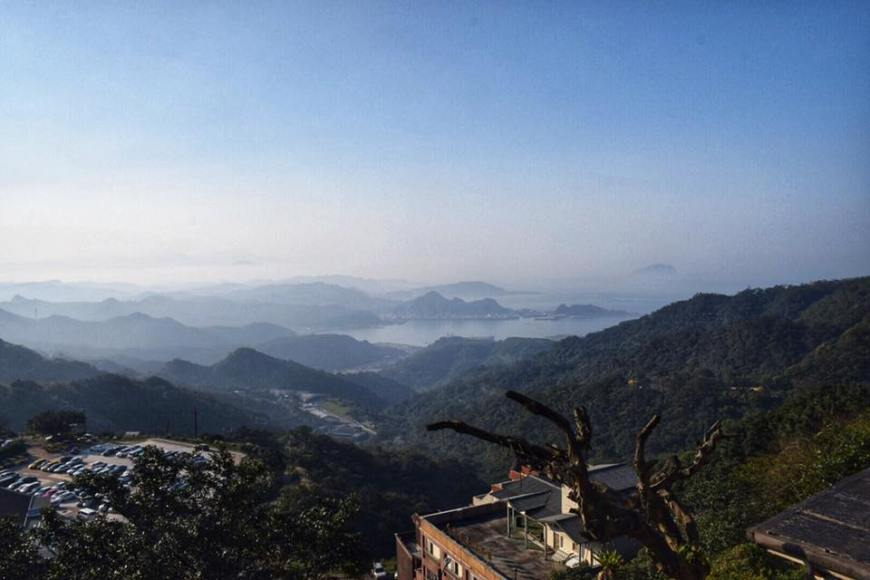The view from Jiufen looking out toward the ocean