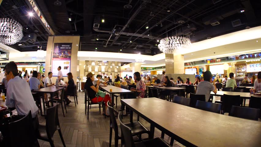 Food court in a Taipei Mall