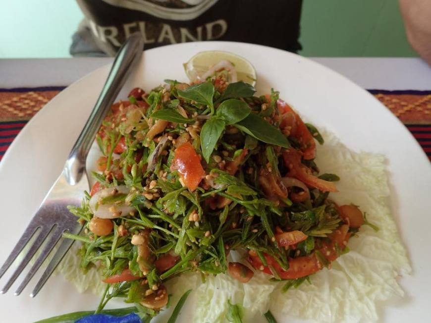 Fresh tamarind leaf salad from Myanmar