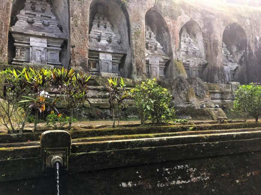 Ancient shrines dating back to the 11th century at Gunung Kawi temple