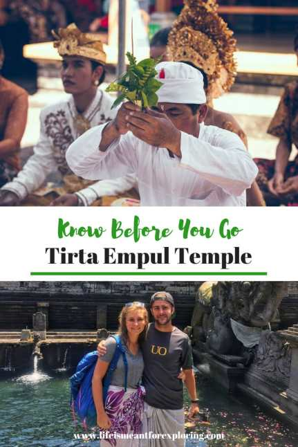 Pin to Pinterest for your guide to Pura Tirta Empul, the Balinese Temple