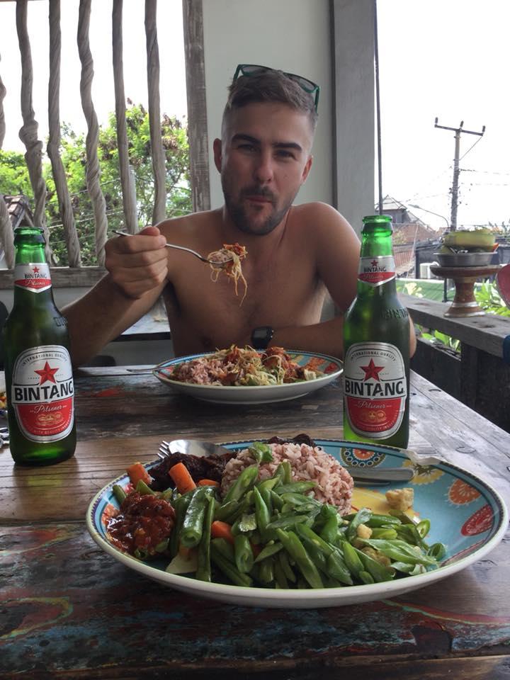 Enjoying some of our favorite Balinese foods