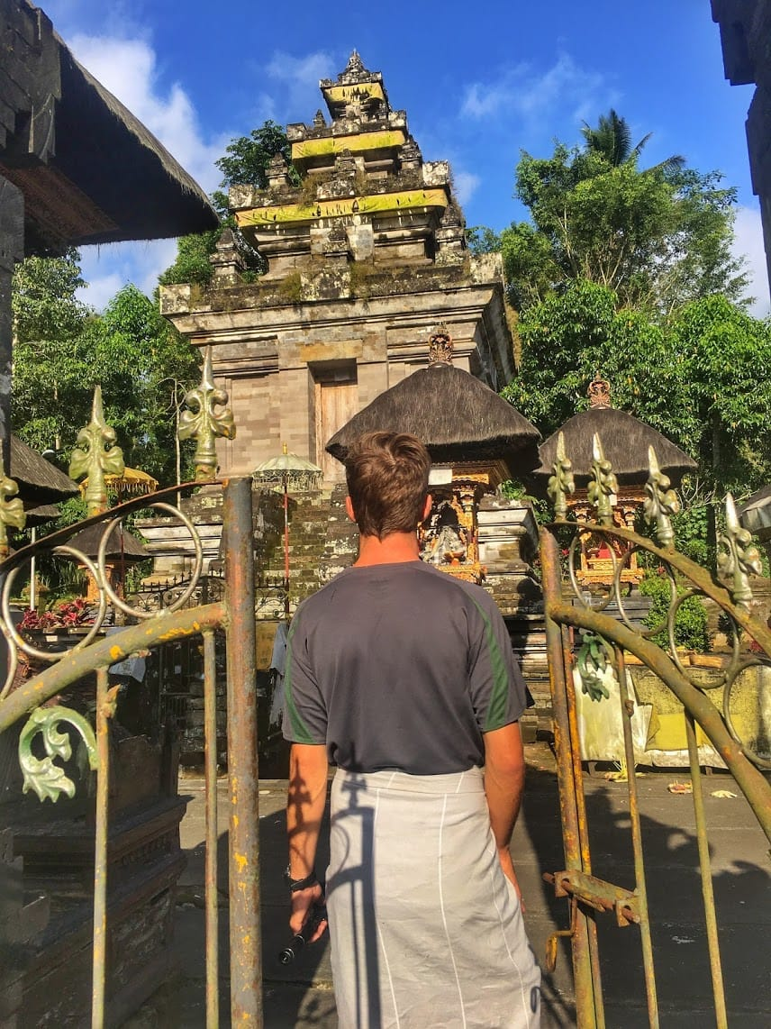 TJ of Life Is Meant For Exploring entering Mengening temple